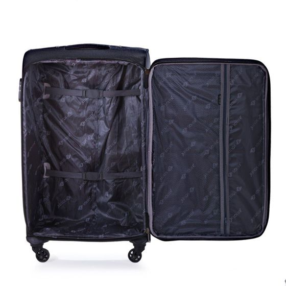 Large soft luggage L Solier STL1311 black-red