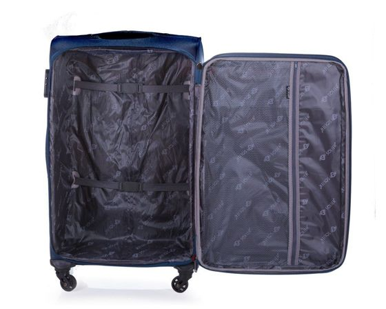 Large soft luggage XL Solier STL1316 navy-red