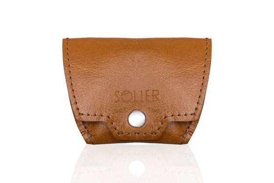 Leather men's coin wallet SOLIER SA10 CAMEL