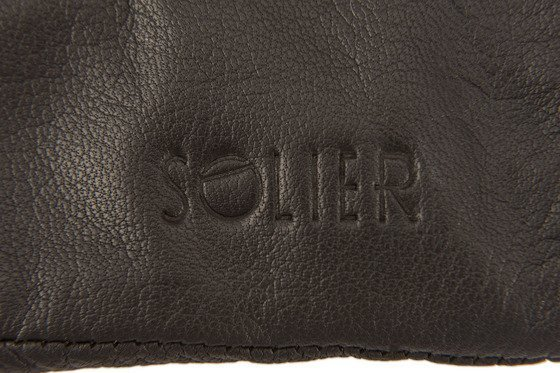 Leather men's gloves Solier SA05