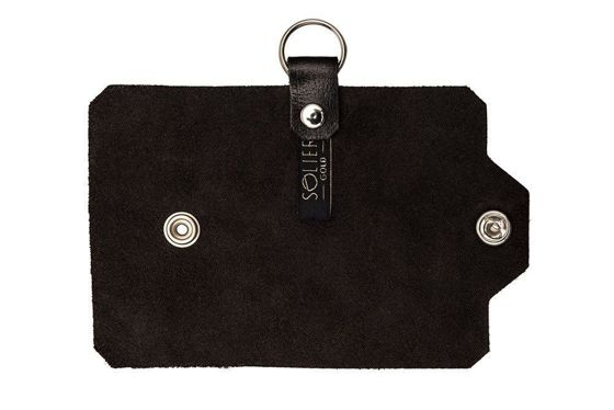 Leather men's key holder SOLIER SA11 DARK BROWN