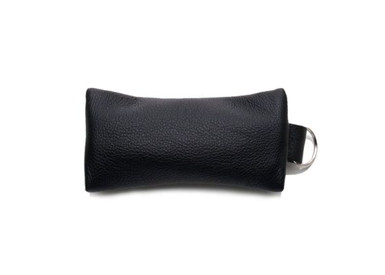 Leather men's key holder SOLIER SA18 BLACK