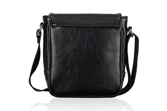 MEN'S GENUINE LEATHER SHOULDER BAG SL07 DERRY BLACK