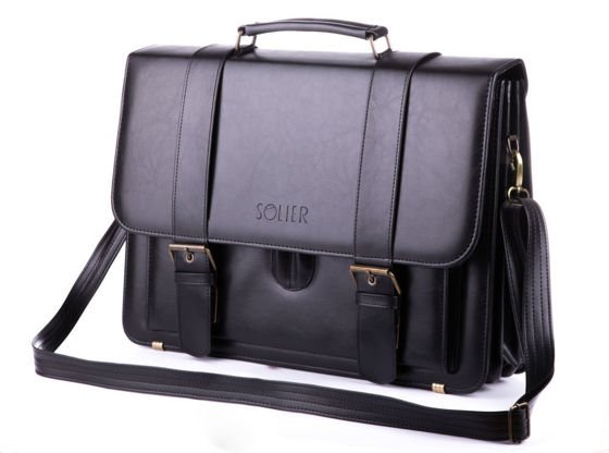 MEN'S SHOULDER BAG SOLIER S28 PRESTON BLACK