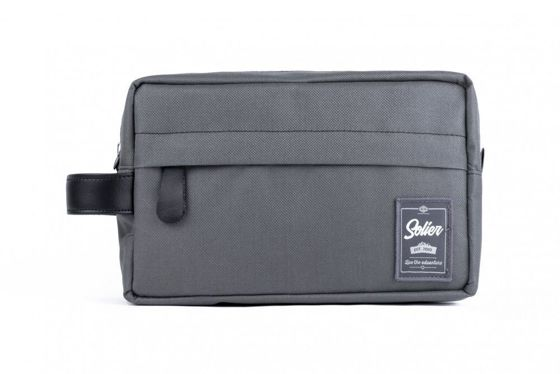 Material men's beauty bag SOLIER SK03 GREY