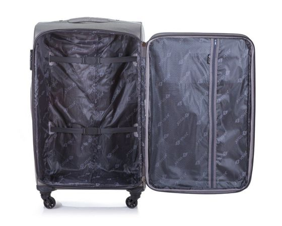 Medium soft luggage M Solier STL1311 grey-blue