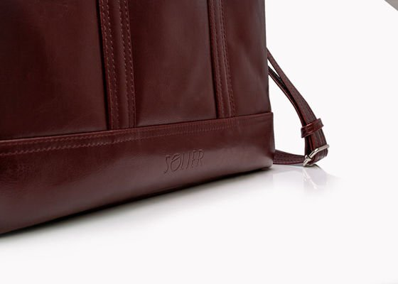 Men's leather shoulder laptop bag SL02 ABERDEEN