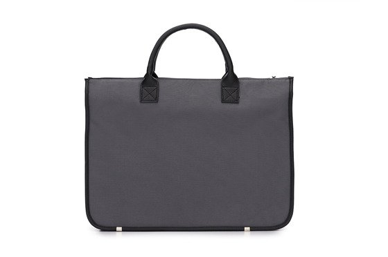 Men's modern briefcase Solier GALSTON grey/black