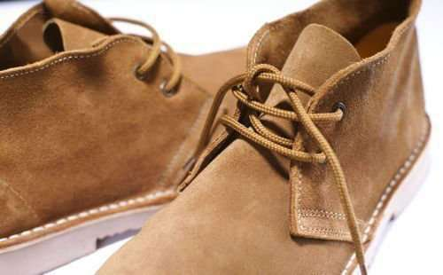 Men's stylish leather suede Chukka shoes/boots Solier brown