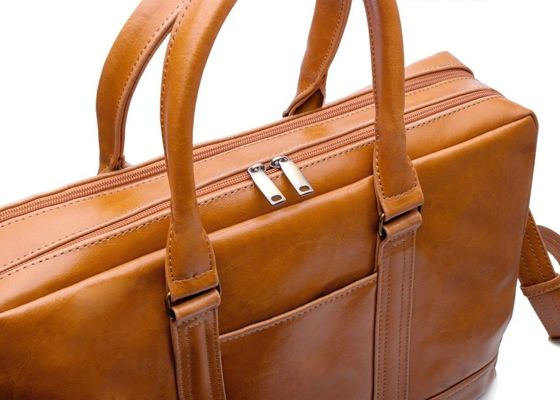 Personalised genuine leather men's laptop bag SL02