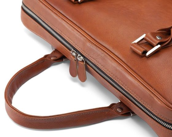 Personalised genuine leather men's laptop bag SL25