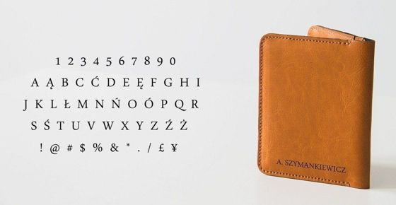 Personalised genuine leather men's wallet SW07
