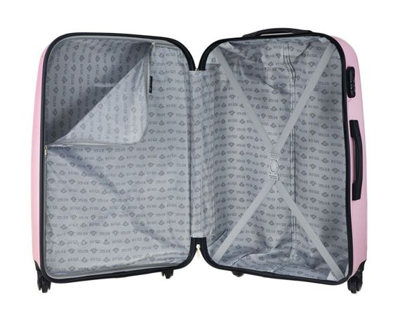 SMALL SUITCASE 55x35x22cm | STL856 ABS PINK