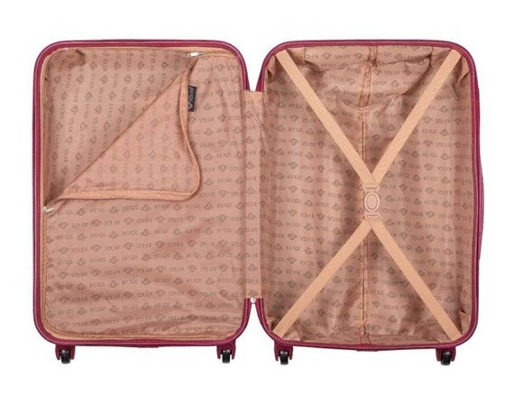 SUITCASE L STL946 ABS BURGUNDY