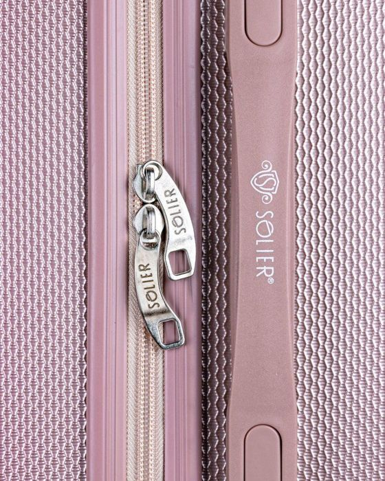 SUITCASE L STL946 ABS ROSE GOLD