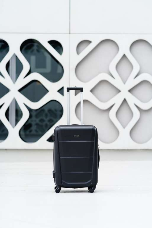 SUITCASE M STL946 ABS BLACK