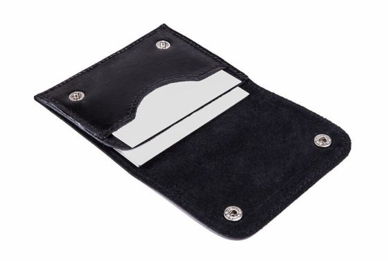Slim leather men's card holder SOLIER SW18 BLACK