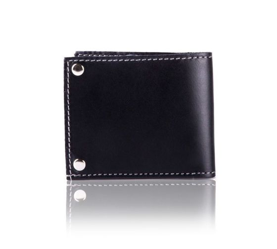 Slim leather men's card holder Solier SW21 black vintage