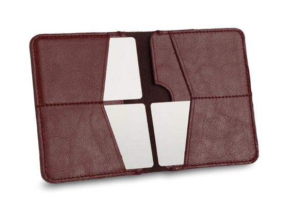 Slim leather men's wallet SOLIER SW10 SLIM BROWN