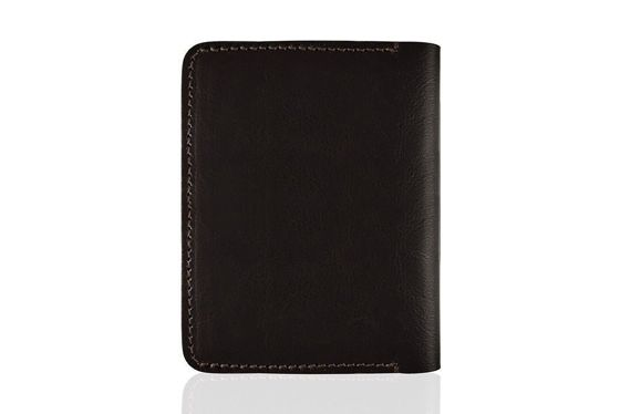 Slim leather men's wallet SOLIER SW10 SLIM DARK BROWN
