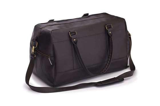 Sport men's weekend bag Solier GOVAN dark brown