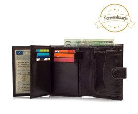 Personalised genuine leather men's wallet SW01