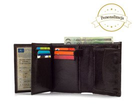 Personalised genuine leather men's wallet SW01B