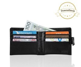 Personalised genuine leather men's wallet SW05