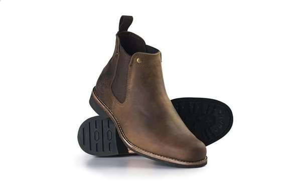 Classic leather Chelsea Military boots for men