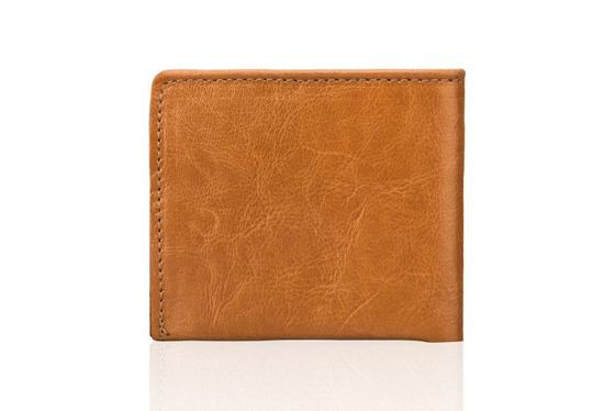 Elegant camel leather wallet SOLIER SW05B