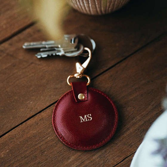 LEATHER KEYCHAIN SOLIER SA02 CAMEL