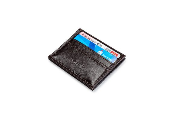 Personalised genuine leather men's card holder SA13