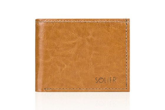 Personalised genuine leather men's wallet SW06
