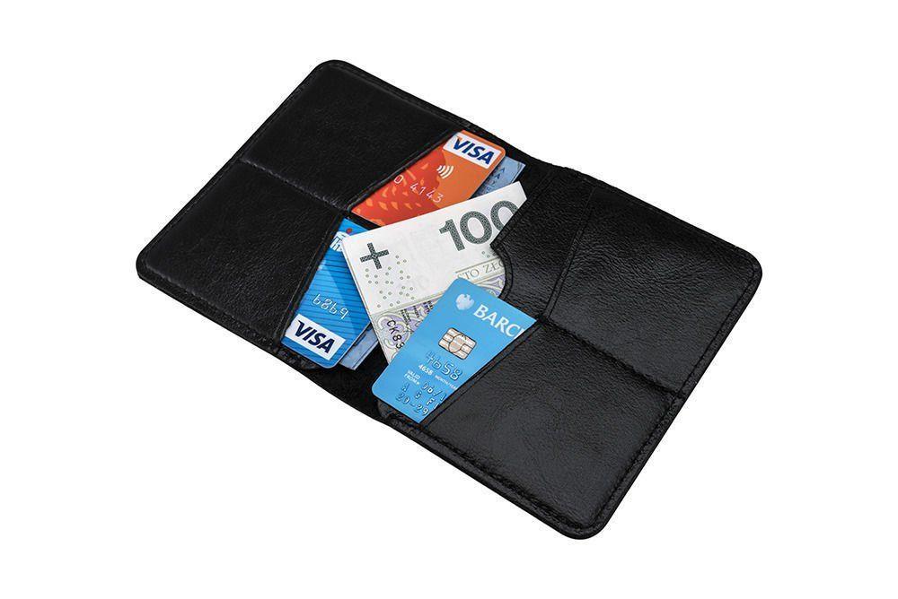 ed3f79a5313388 ... Cienki skórzany męski portfel SOLIER SW10 SLIM CZARNY Kliknij, aby  powiększyć ...