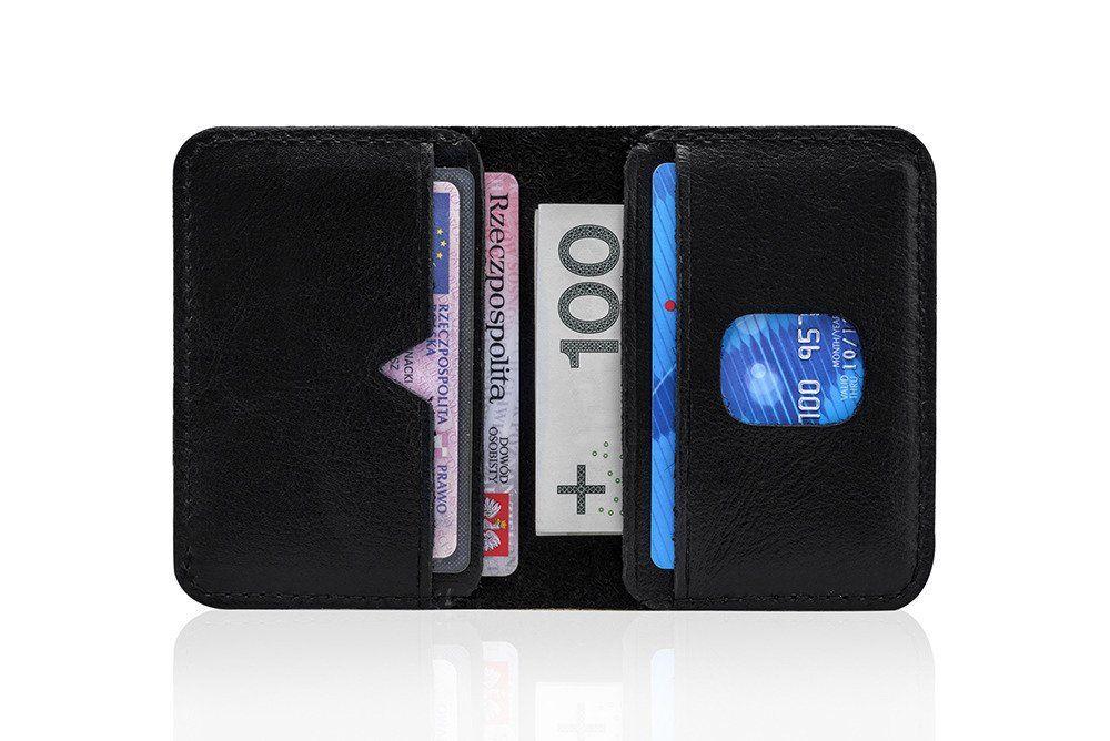 c670416b851855 ... Cienki skórzany męski portfel SOLIER SW11 SLIM CZARNY Kliknij, aby  powiększyć ...