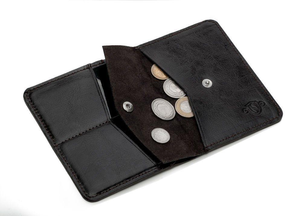 16d2d99662431 Cienki skórzany męski portfel z bilonówką SOLIER SW15 SLIM CIEMNY ...