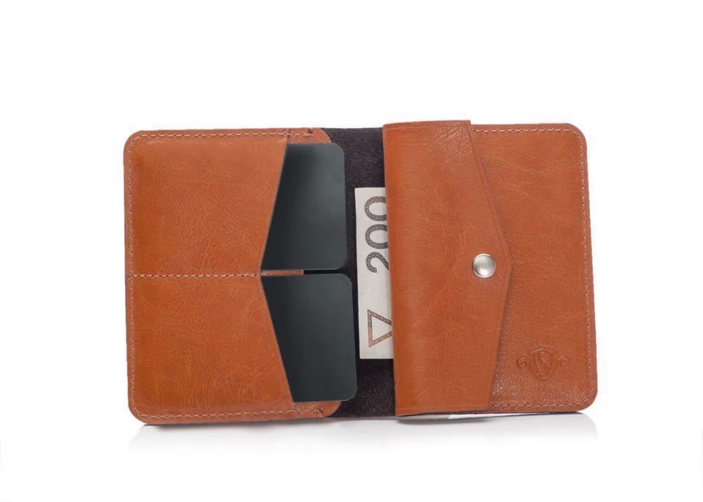 0e525a5aa5c01 Cienki skórzany męski portfel z bilonówką SOLIER SW15 SLIM JASNY ...