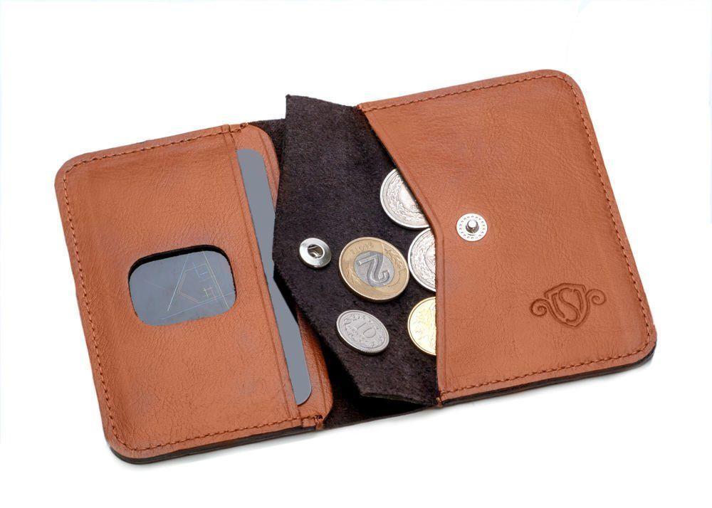 760158cac67e7 Cienki skórzany męski portfel z bilonówką SOLIER SW16 SLIM JASNY ...