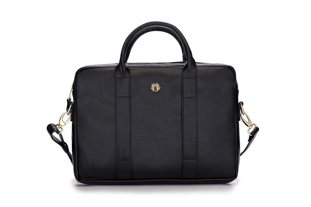 f6a6ecea9e09b Damska skórzana torba na laptopa Dulce czarna Kliknij, aby powiększyć ...