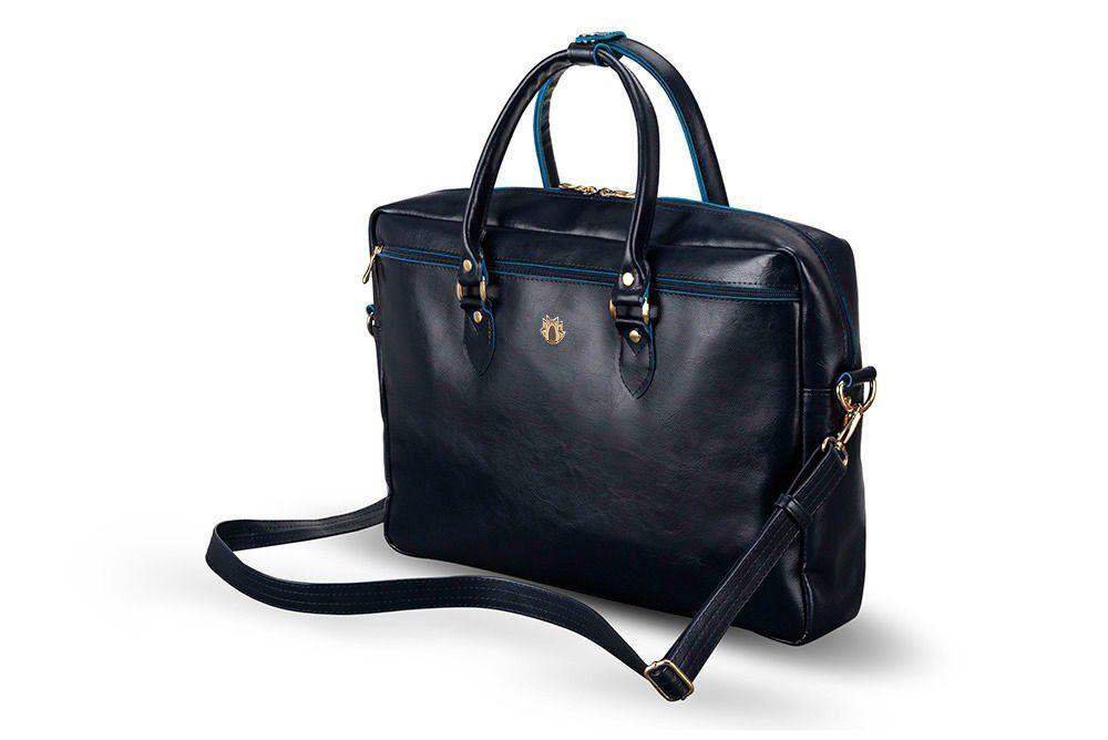 4b43230e59b91 Damska skórzana torba na laptopa Marina granatowa Kliknij, aby powiększyć  ...