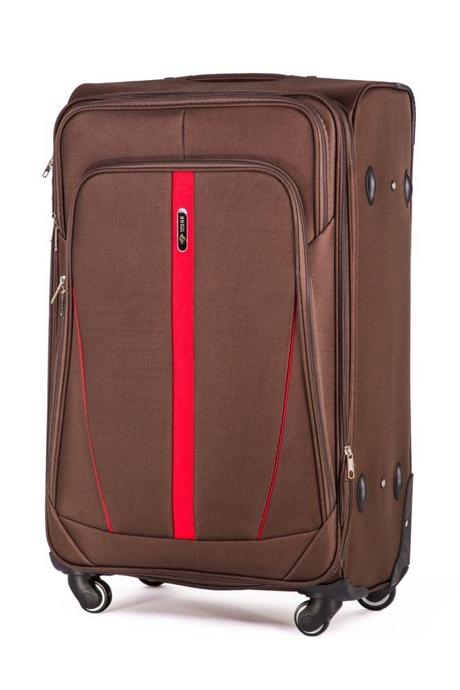 9e58024ab4ed4 Duża walizka miękka L Solier STL1706 brązowy Kliknij, aby powiększyć ...