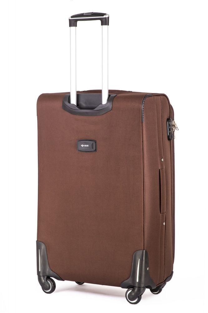 73f9665859135 ... Duża walizka miękka L Solier STL1706 brązowy Kliknij, aby powiększyć ...