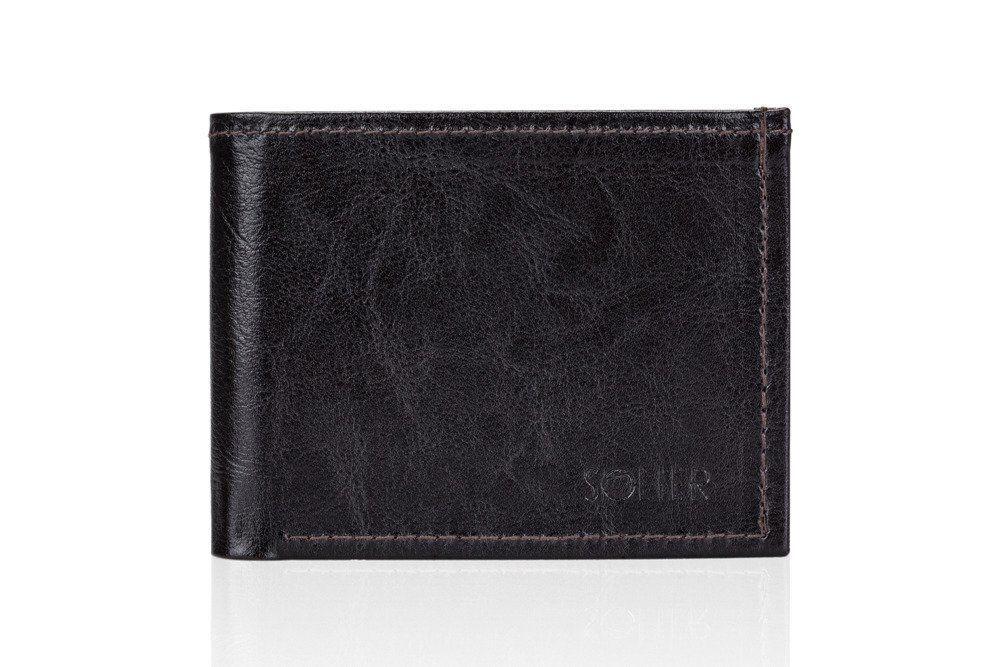 aee9601adc34d Elegancki brązowy skórzany męski portfel SOLIER SW06 Kliknij