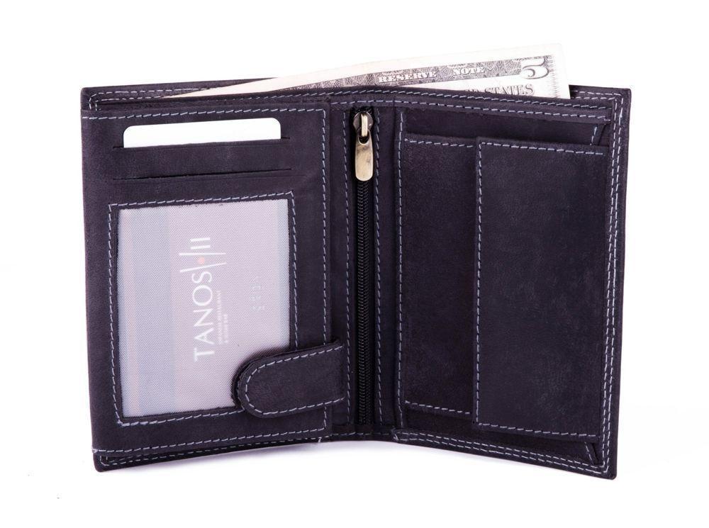 4ddf01ca981e1 ... Elegancki skórzany męski portfel SOLIER SW22 CZARNY Kliknij, aby  powiększyć ...