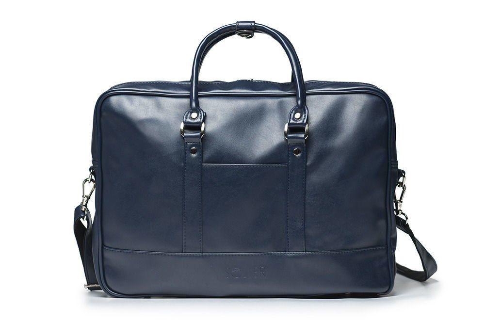 7fa26f915f53c Granatowa elegancka torba na laptopa Solier S04 Kliknij
