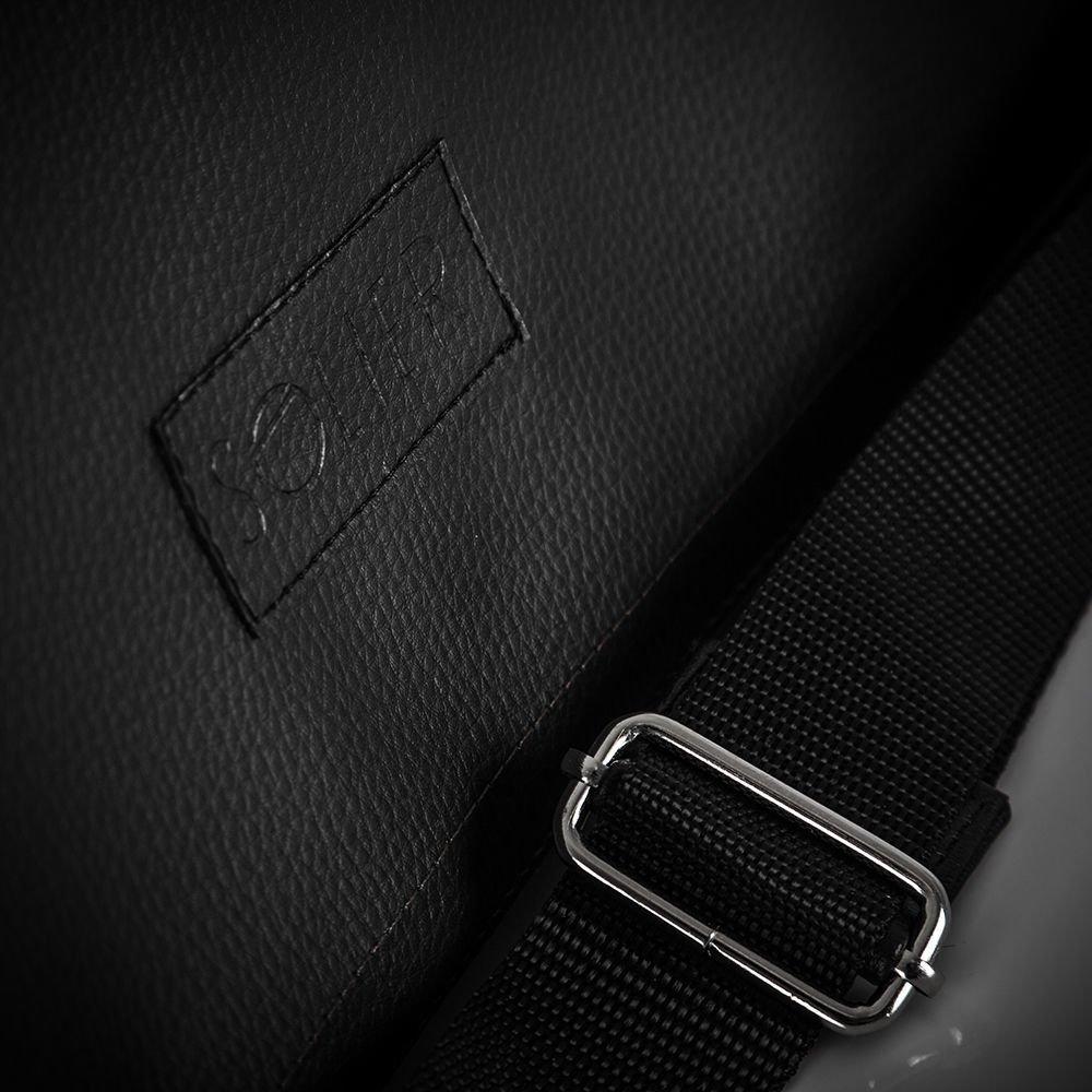 97f85b64112f6 ... Męska czarna miejska torba na ramię Solier S11 Kliknij, aby powiększyć  ...