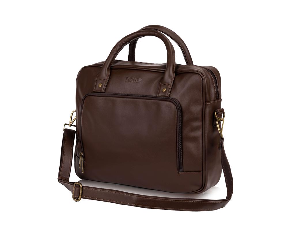 b6e3f20844f83 ... Męska torba na laptopa Solier S19 FOXFORD BRĄZOWY Kliknij