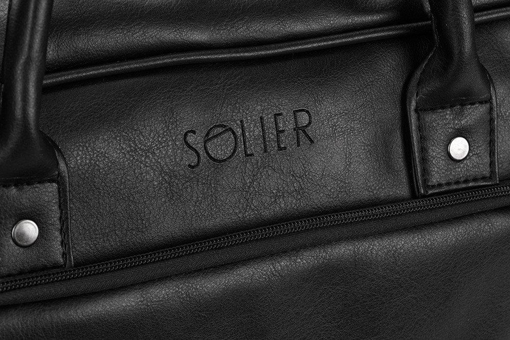 e67b90230beb5 ... Męska torba na laptopa Solier S19 FOXFORD CZARNY Kliknij