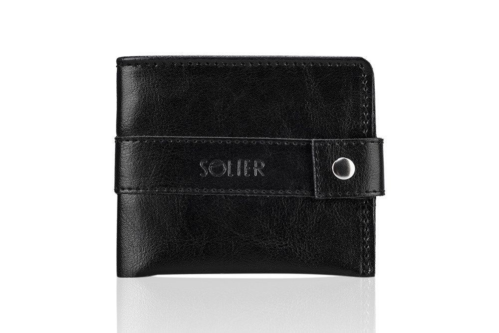 afabf95136373 Personalizowany skórzany portfel męski SW05 | sklep.solier.pl