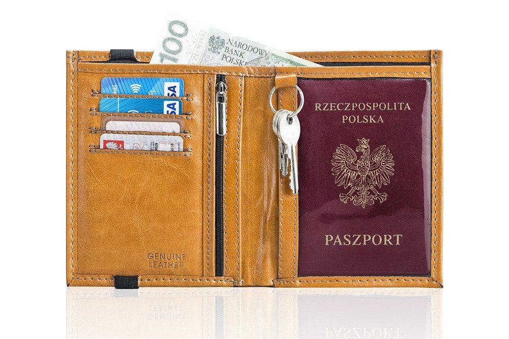 f5369de40a546 Personalizowany skórzany portfel męski SW07 | sklep.solier.pl
